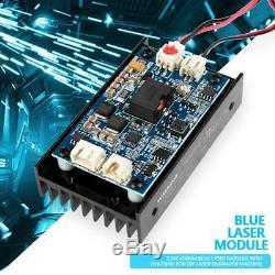 Module De Gravure De Tête Laser 15w Outil De Coupe Pour Graveur Sur Bois Blu-ray Ttl / Pwm 450nm