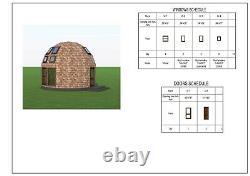Moon House 20 Diam Dome Framing Kit Pré-découpé Bois Diy Maison Cadre A330 Sf