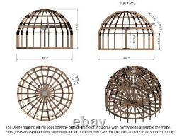 Moon House 26 Diam Dome Framing Kit Pré-découpé Bois Pré-découpé Maison Cadre A680sf