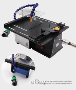 Multifonction 24v Électrique Mini Scie À Table En Bois Jade Coupe Polisseuse