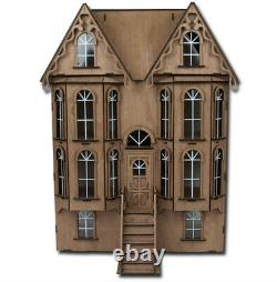 Newlaser-cut Greenleaf Victorian Emerson Row Dollhouse Kit New In Box