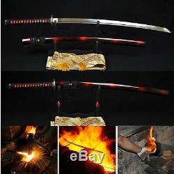 Nnouveau Japonais Samurai Sword Katana 1060 En Acier Au Carbone Pleine Tang Lame Can Cut Tre