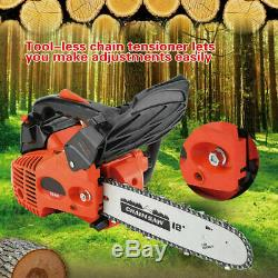Nouveau 12 ' ' Bar 25cc Essence Chainsaw Gaz Powered Machine Scie À Chaîne De Coupe De Bois