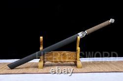 Nouveau Japonais Katana Samurai Sword Spring Steel Sharp Ninja Can Cut Bamboo Arbres