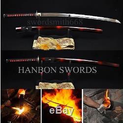 Nouveau Japonais Samurai Sword Katana Haute En Acier Au Carbone Pleine Tang Lame Peut Arbre Coupé