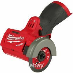Nouveauté En Boîte Milwaukee 2522-20 M12 Carburant 3 Découpé Outil De Barre De Grinder Seulement