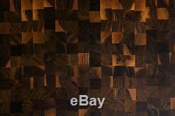Noyer Finger-joint Fin Grain Butcher Block Planches À Découper 24x18 18x18 18x12