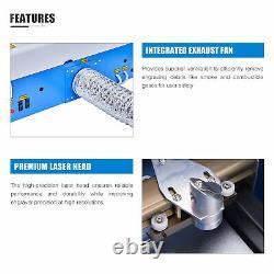 Omtech 40w Co2 Laser Gravure Machine Graveur Cutter 12x8 Po. K40
