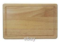 Planche À Découper En Bois Hevea Solide 30 X 20 X 1,5 CM Coupe La Viande De Pain En Dés