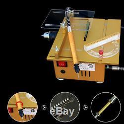 Portable Mini Scie À Table En Bois Bricolage Machine De Découpe Du Bois Grinder Polisseuse
