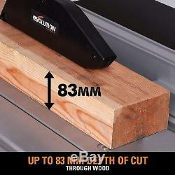 Portable Table Saw 255mm Lame Robuste En Acier Bois Machine De Clôture De Coupe En Métal