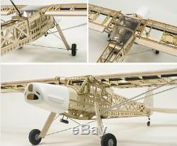 Rc Plane Balsa Kit Avion Découpé Au Laser En Bois 1600mm Bricolage Pour Adultes Construction Cadeau
