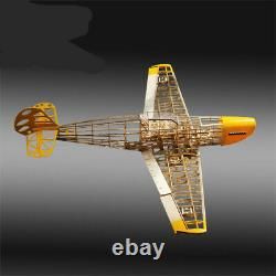 Rc Plane Bf-109 Fighter Laser Cut Balsa Wood Airplane Model Kit Wingspan 1020mm
