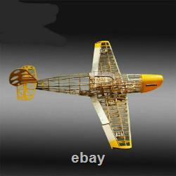 Rc Plane Laser Cut Balsa Wood Bf 109 Airplane Model Building Kit+hardware Parts