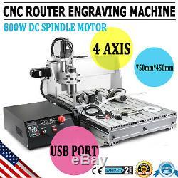 Routeur Cnc 4 Axes Usb 6040z Gravure MILL Graveuse Metal Machine En Bois Cut