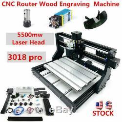 Routeur Gravure De Coupe De Bois En Métal De Cnc Machine Avec 5500mw Tête Laser