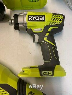 Ryobi One + 6 Tool Kit, 18 V Sans Fil Cut Our, Forets, Scie Circulaire, Piles