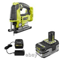 Ryobi P524 18v Puzzle 18-volt Sans Fil Jig Saw+ 3ah Batterie & Chargeur