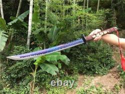 Sabre À La Main Glaive Cut Cheval Dao Épée Tranchante Haute Manganèse Lame En Acier
