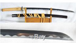 Sakabato Katana Épée Japonaise Renversé Cutting Edge 1095 Bataille En Acier Prêt