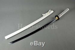 Samana Japonais Traditionnel Fait À La Main Épée De Lame Noire Katana Peut Couper L'arbre Sharp