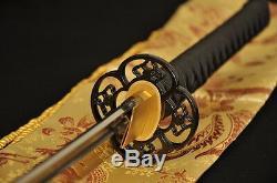 Samurai Sword Japonais Katana Pleine Tang Trempé Lame Tranchante Huile Peut Couper En Bambou