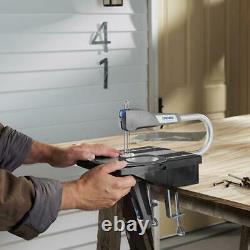 Scie À Défilement Cordonnée 0.6amp Cut Plastique Stratifiés Métal Portable Light Auto-tension