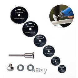 Scie Circulaire Disque Rotatif Set En Bois Lame De Coupe Dremel-accessoires Mini Drill