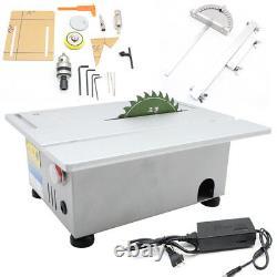 T5 Mini Précision Petite Table Scie Lame Bricolage Machine À Découper Bois 24v 100w