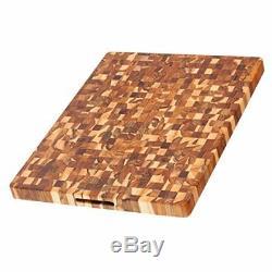 Teck Planche À Découper Rectangulaire Fin Grain Bloc Butcher (24 X 18 X 1,5 Po.) Par