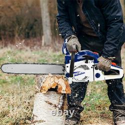 Vehpro 20 Bar Gas Powered Chainsaw Chain Saw 2-stroke 58cc Handed Wood Cutting