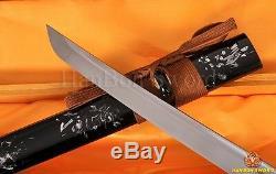 Véritable Main Katana Samurai Japonais Oiseau Épée 1060 Lame En Acier Can Cut Bamboo