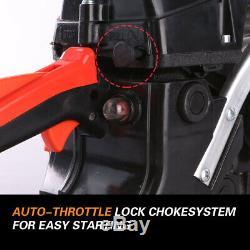X-bull 52cc Chainsaw 20 Barre Moteur À Essence Moteur Bois De Coupe Black 2 Cycle